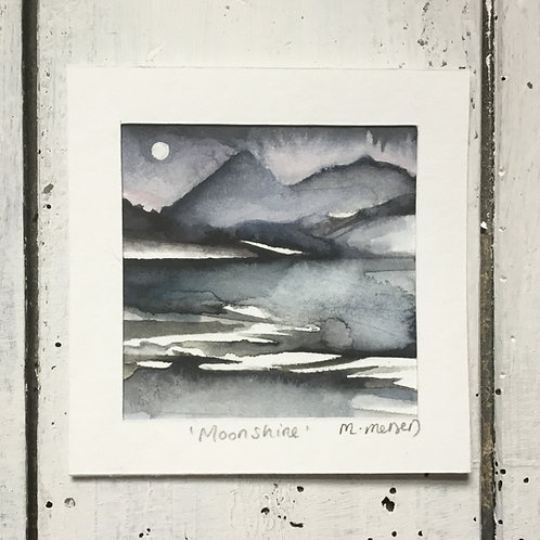 'Moonshine' Watercolour Painting
