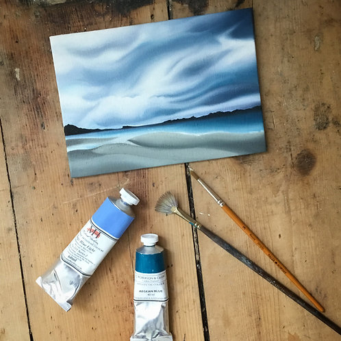 'Hebridean Clouds' Oil Painting