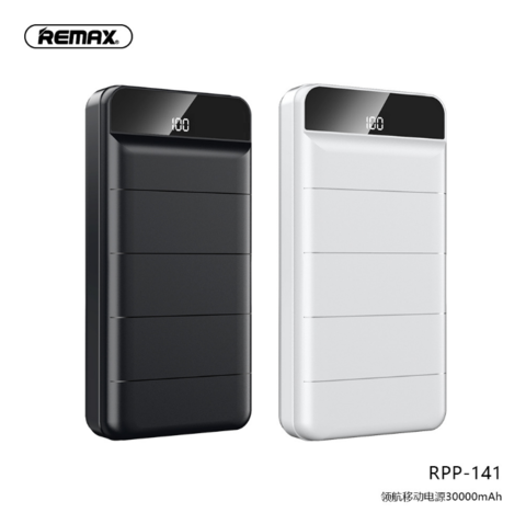 Remax RPP-141 30000mAh Powerbank with LED Display 3 Charging Input