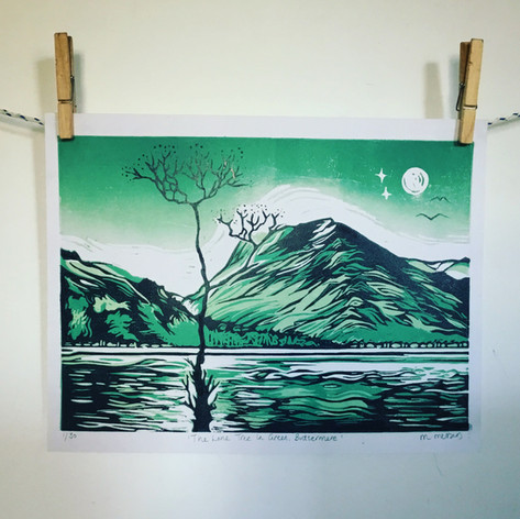 THE LONE TREE IN GREEN, BUTTERMERE