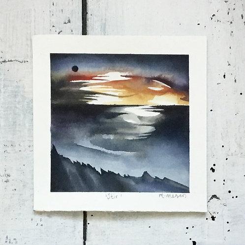 'Stir' Watercolour Painting
