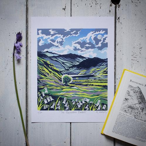 'The Rannerdale Bluebells' Lino Print