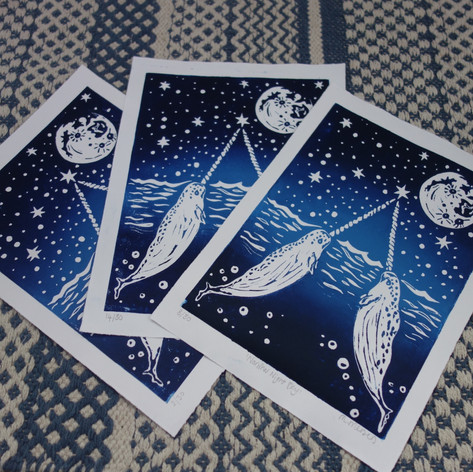NARWHAL NIGHT SKY (BLUE)