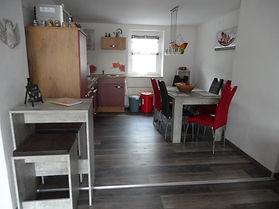 Offener Wohn-Küchebereich, Ferienwohnung, Harz, Haus Maisonette, Urlaub, Pension