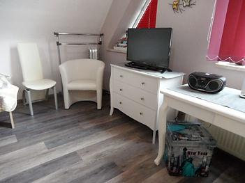 1. Schlafzimmer, Haus Maisonette am Harz, Urlaub in Thüringen, Deutschland