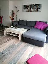 Couch zum ausziehen im Wohnzimmer