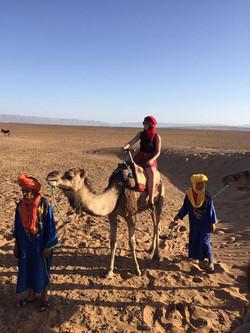 Sahara Meg and her trusty camel!
