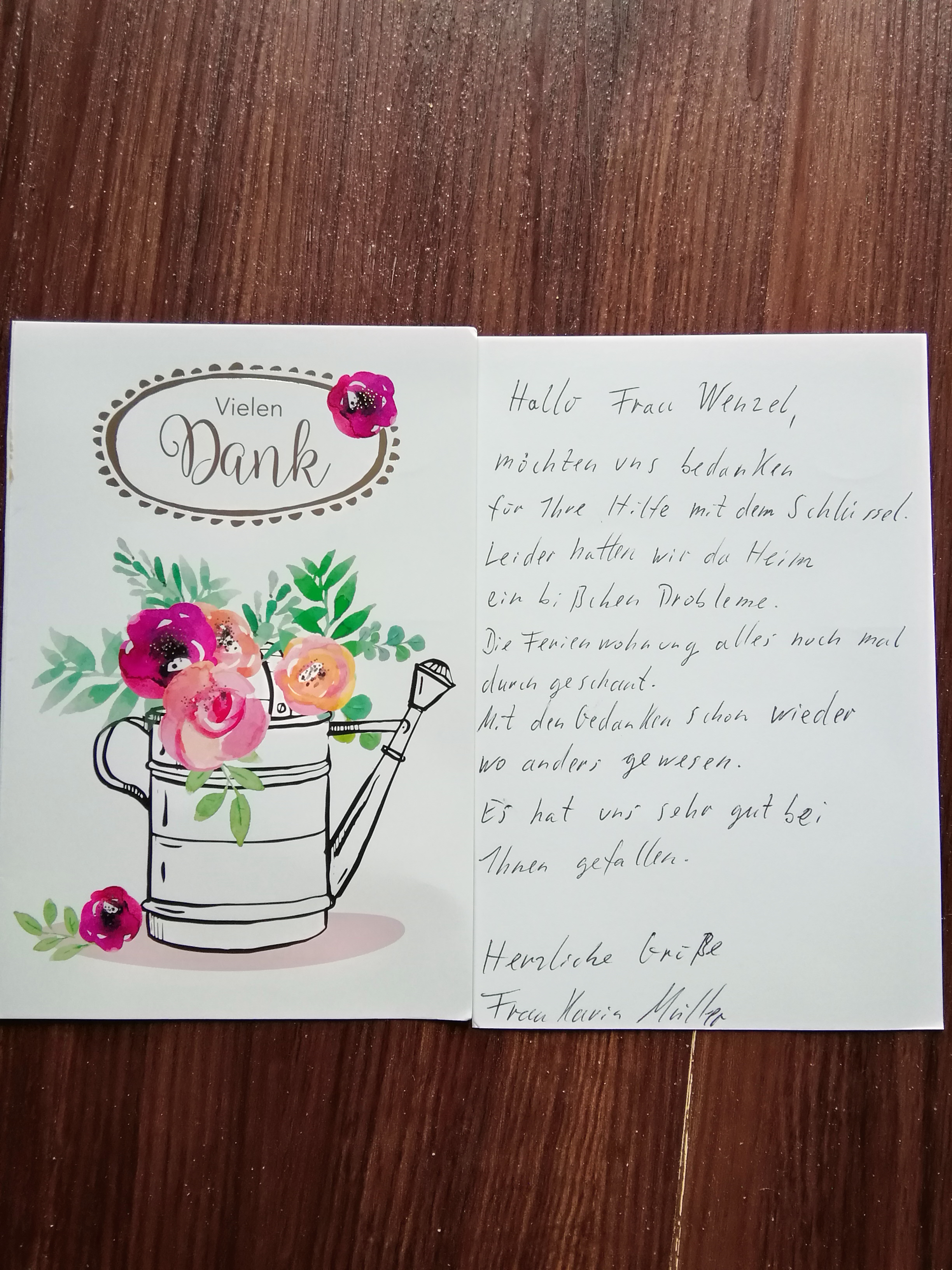 09.10.20 Postkarte nach Aufenthalt Fewo