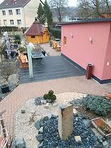 Garten, Haus Maisonette am Harz, Urlaub in Thüringen, Deutschland