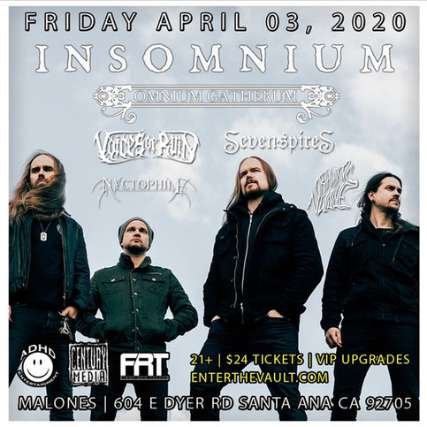 Voices of Ruin with Insomnium in April!!!