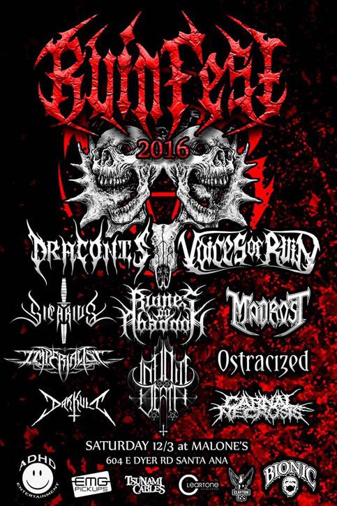 Ruinfest 2016 Announced!!!