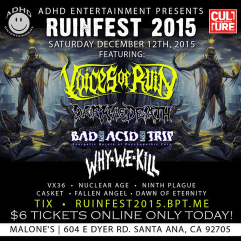 See Voices of Ruin live!!!
