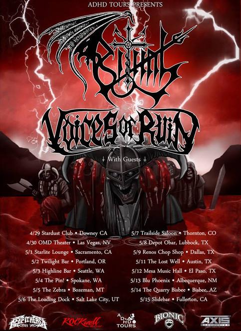 VOICES OF RUIN TOUR ANNOUNCEMENT!!!!