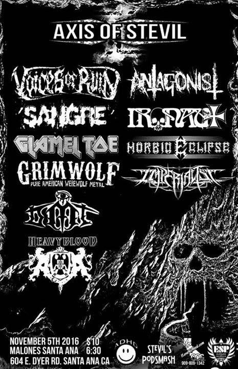 Voices of Ruin Headining Axis of Stevil