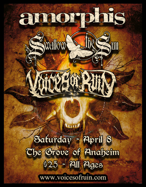 Voices of Ruin playing with Amorphis and Swallow the Sun