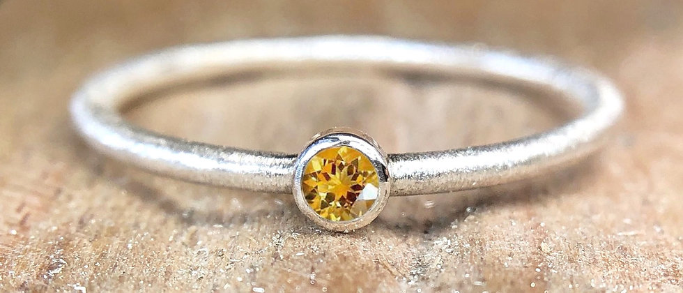 Citrine Textured Stacking Ring