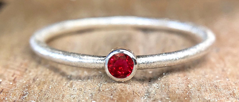 Ruby Textured Stacking Ring