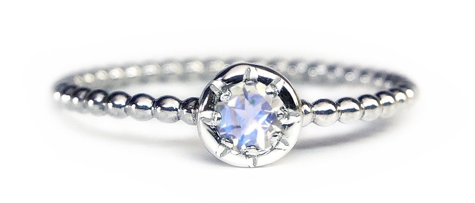 Star Moonstone Bubble Ring