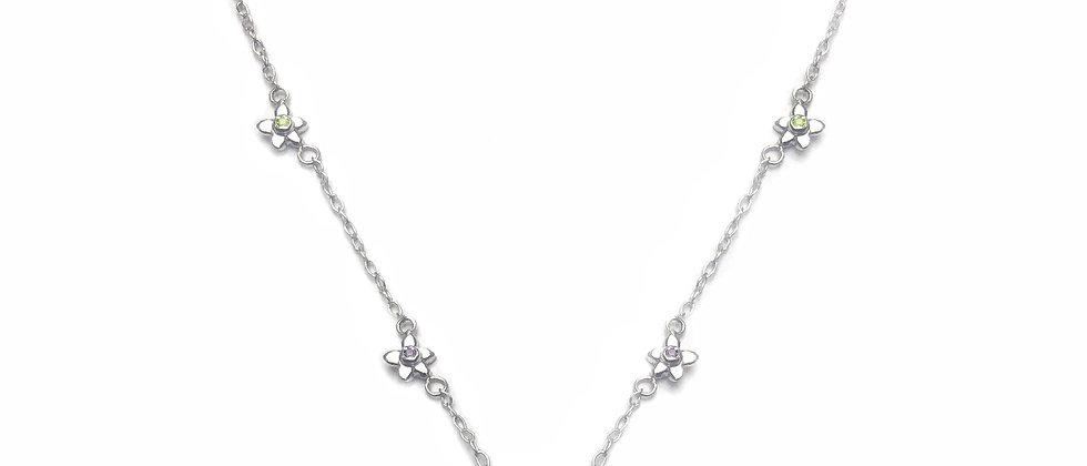 Peridot Six Flower Necklace