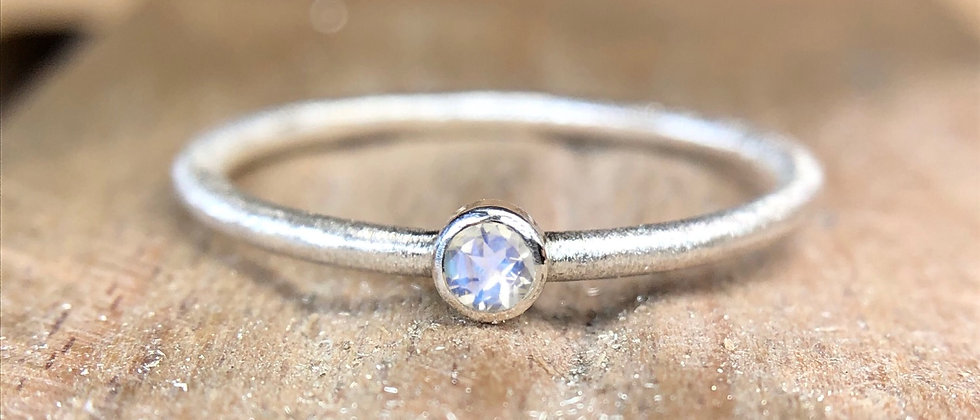 Moonstone Textured Stacking Ring