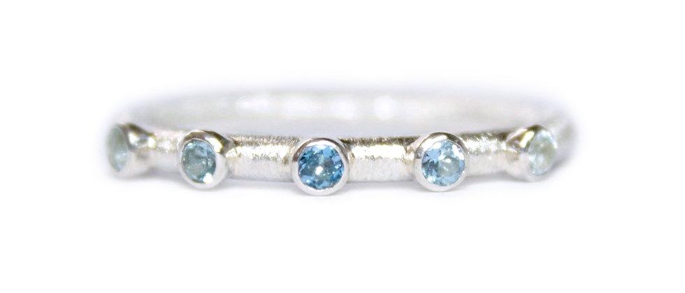 Ombre Aquamarine Ring