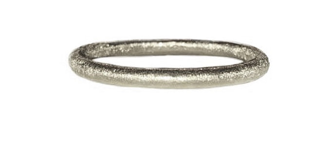 Chunky Silver Silk Textured Ring