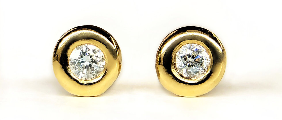 Diamond Doughnut Studs