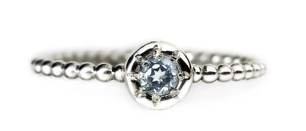 Star Topaz Bubble Ring
