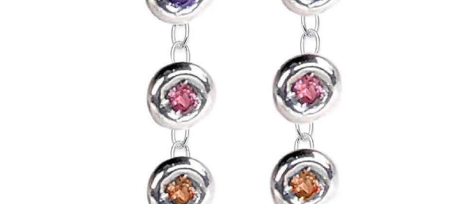 Candy Four Drop Earrings