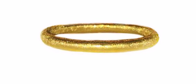 Silky Textured Gold Ring