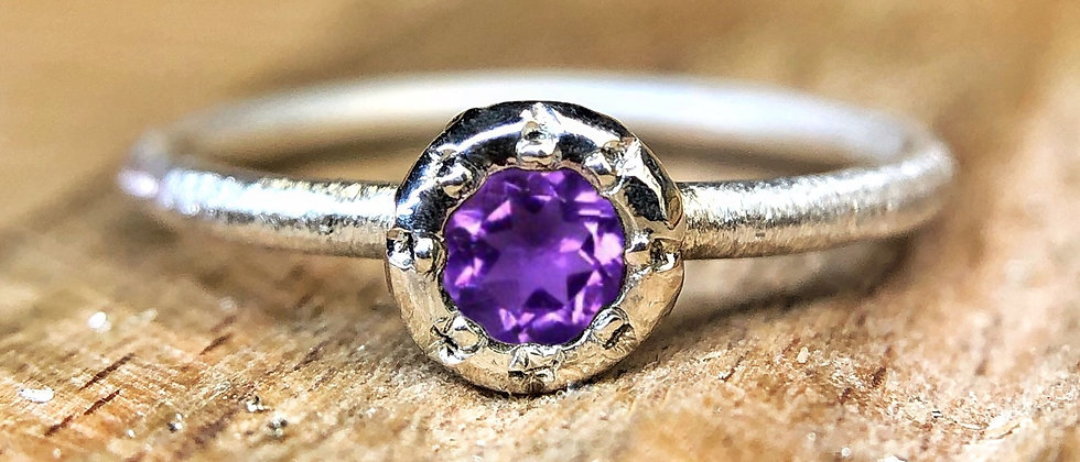 Sun Setting Amethyst  Ring