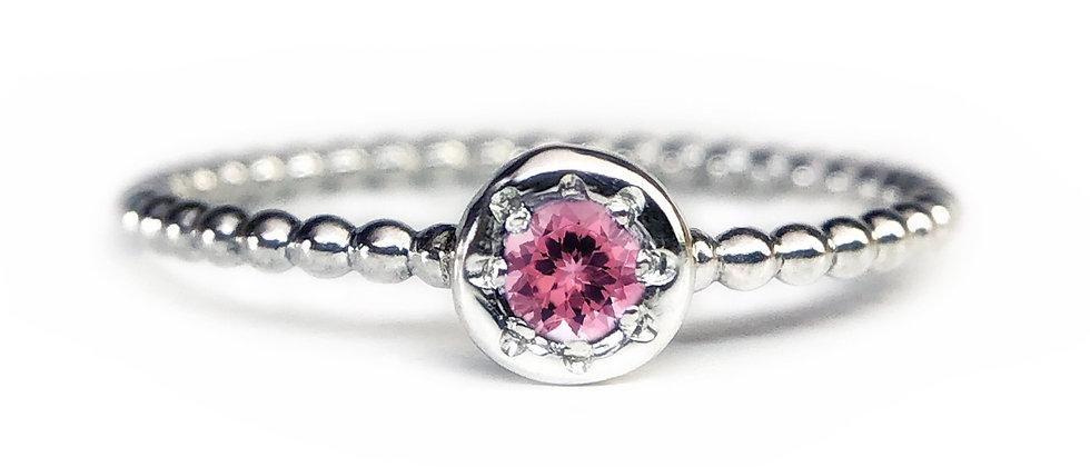 Star Pink Tourmaline Bubble Ring