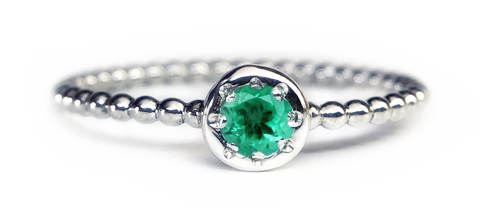 Star Emerald Bubble Ring
