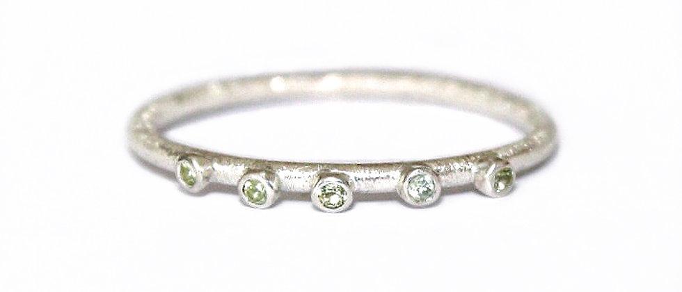 Peridot Textured Ring