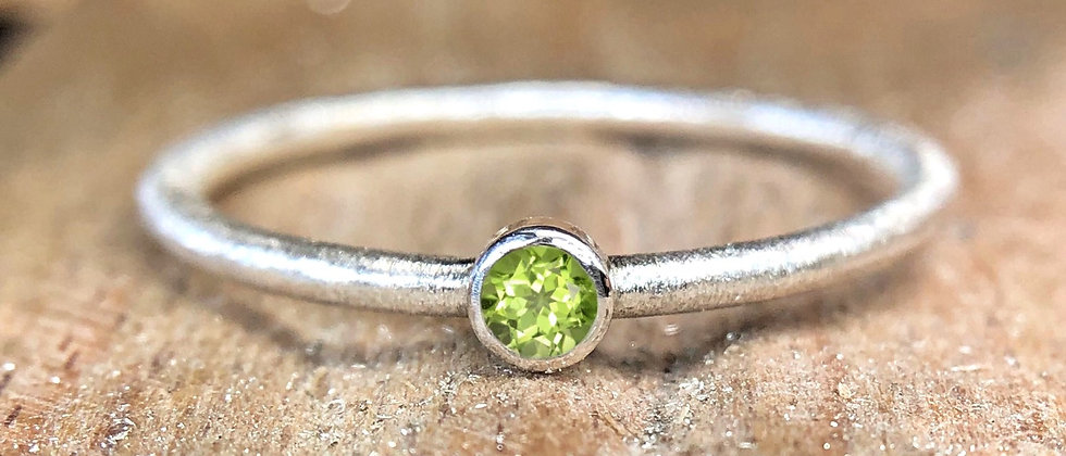 Peridot Textured Stacking Ring