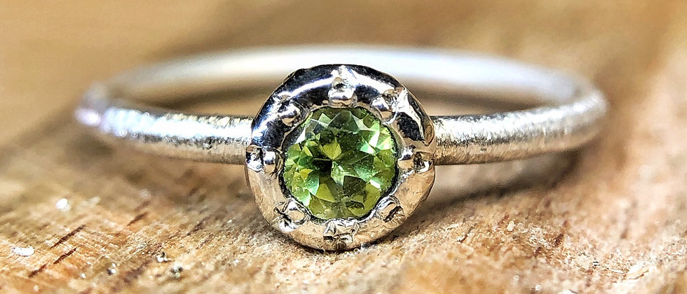 Sun Setting Peridot  Ring