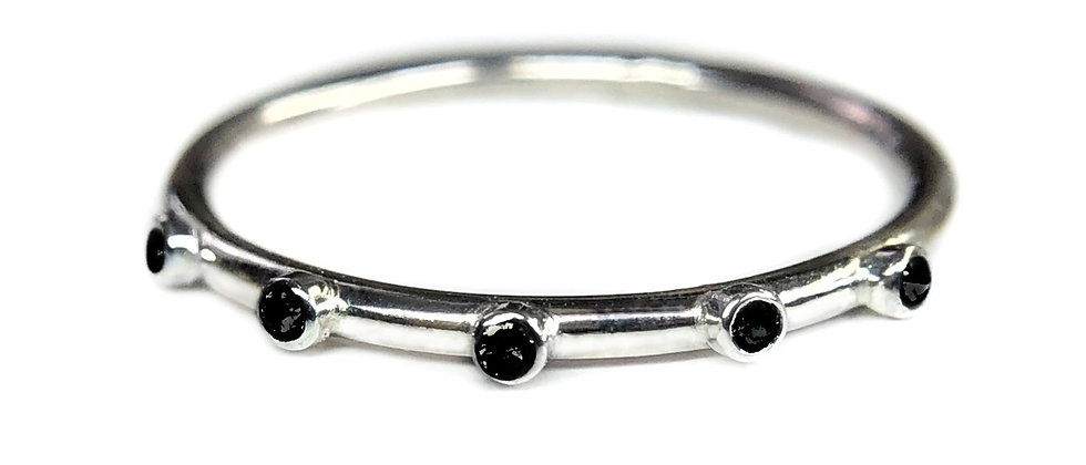 Black Spinel Smooth Eternity Ring