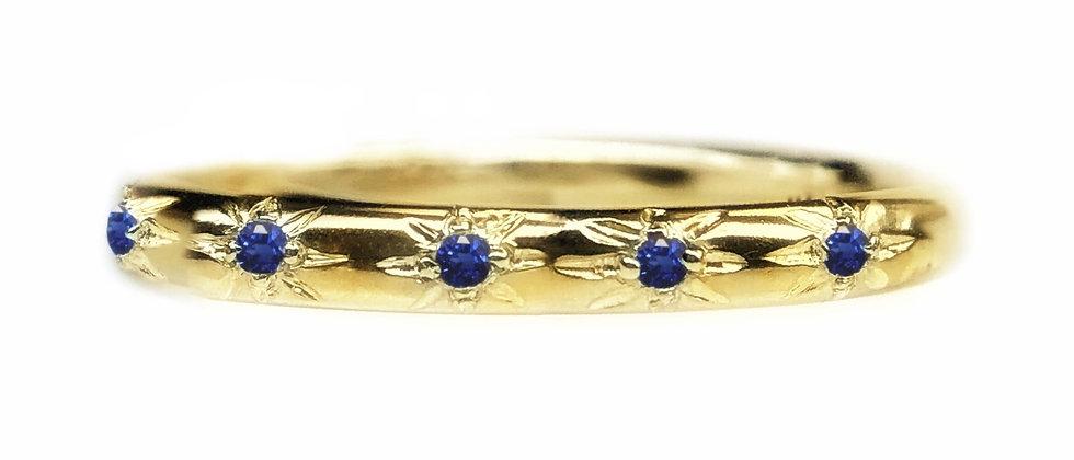 Sapphire Star Set 18ct Gold Ring