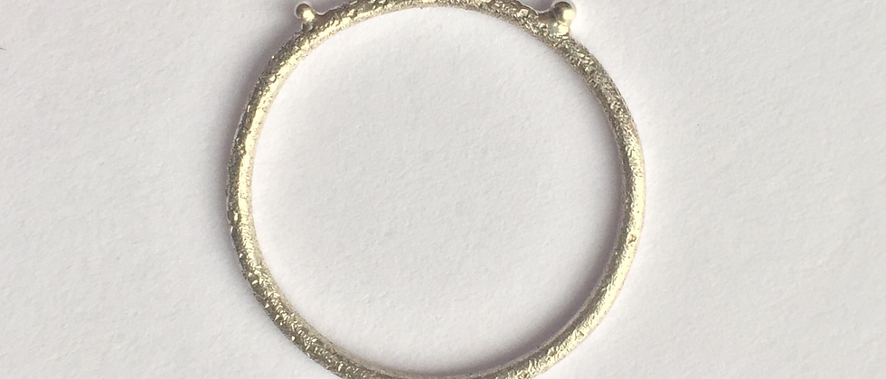 Silver textured bubble ring
