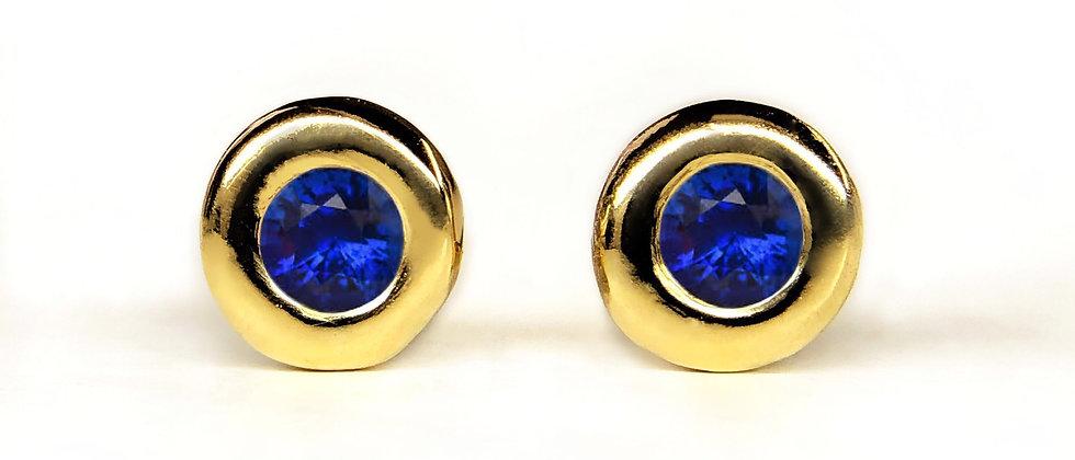 Sapphire Gold Studs