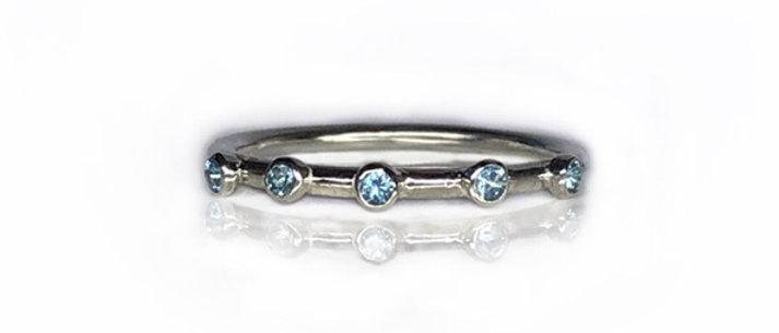 Aquamarine Stacking Ring