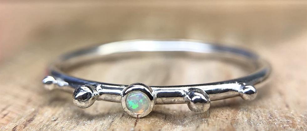 Dainty Opal Bubble Ring