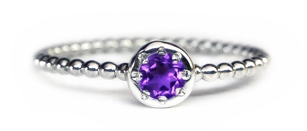Star Amethyst Bubble Ring