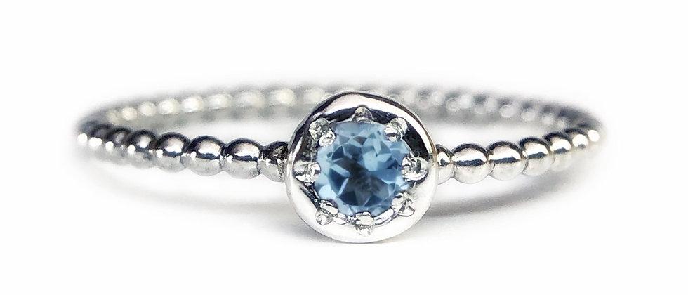 Star Aquamarine Bubble Ring