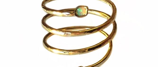 Opal Snake Ring