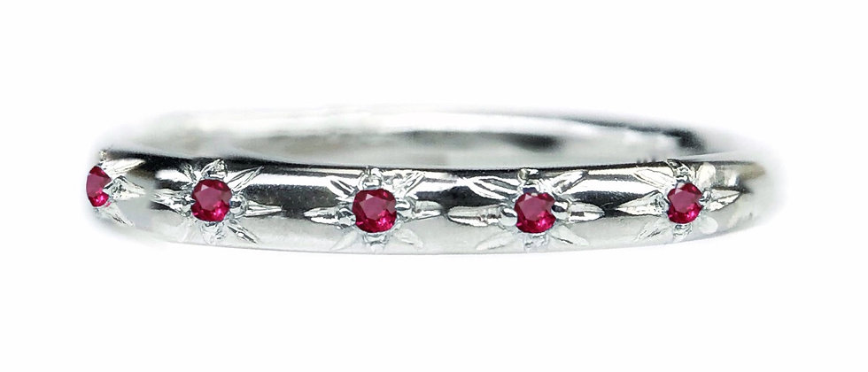 Ruby Star Set Ring