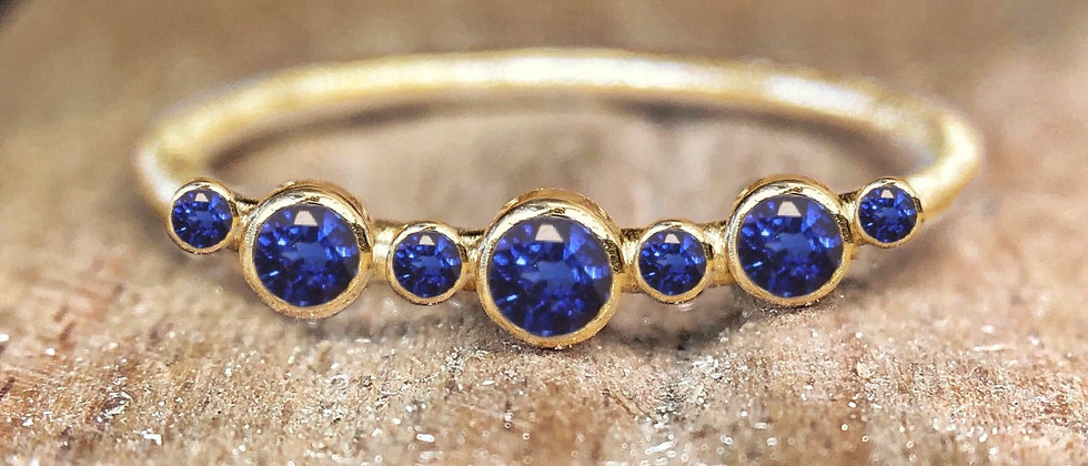 Eternity Sapphire Gold Ring
