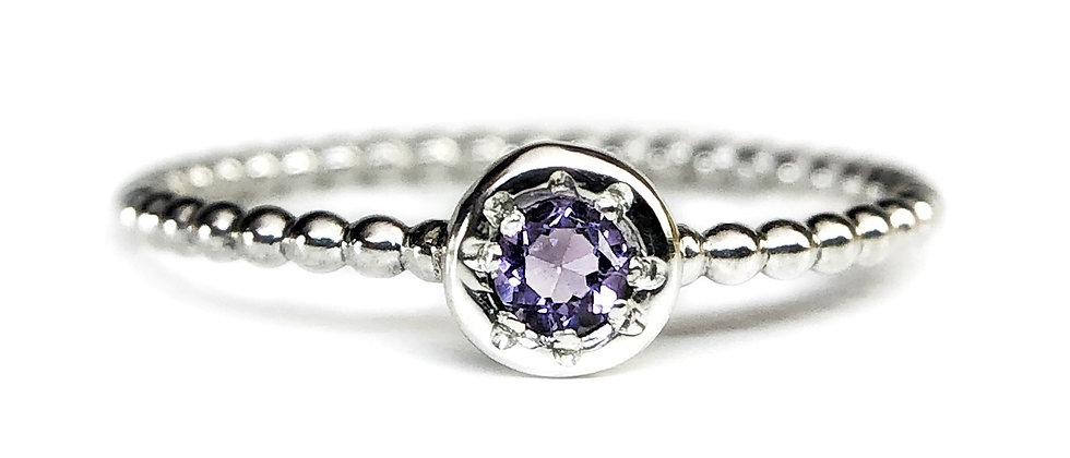 Star Pale Amethyst Bubble Ring