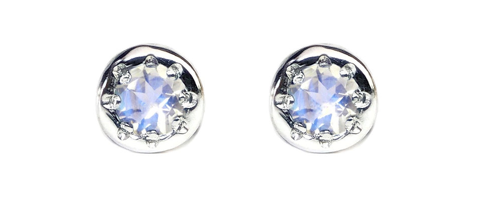 Moonstone Star Set Studs