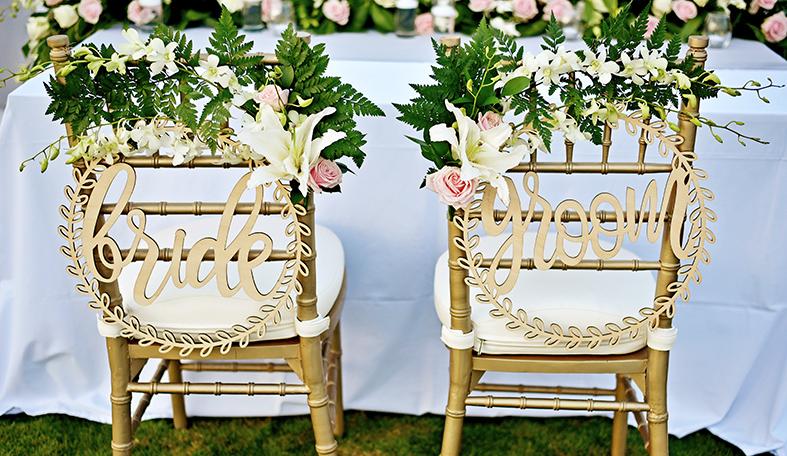 bridal chair decor